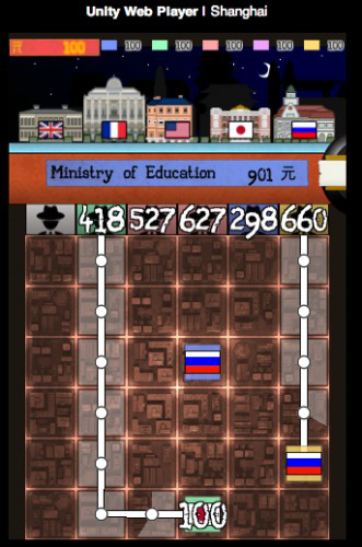 The deals made on the map (lower screen) affect the relationships with various embassies (upper screen)