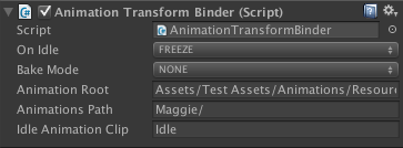 The transform binder allows Entity (character) positions to be recorded in real-time