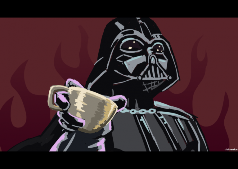 Darth takes his tea seriously