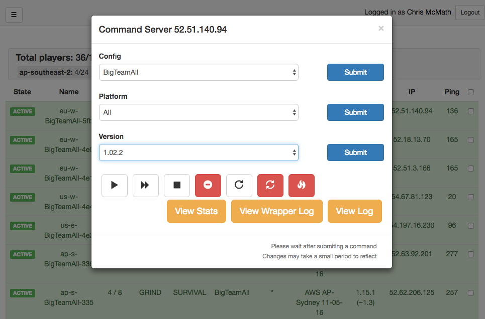 Our backend architecture was especially fun, allowing us to spin up and control servers on one dashboard